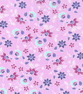 Keepsake Calico Cotton Fabric -Small Butterfly Floral on Purple