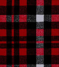 Snuggle Flannel Fabric -Alex Red & Gray Plaid