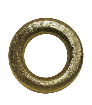 Handmade Holiday Christmas Metallic Yarn Wreath-Gold