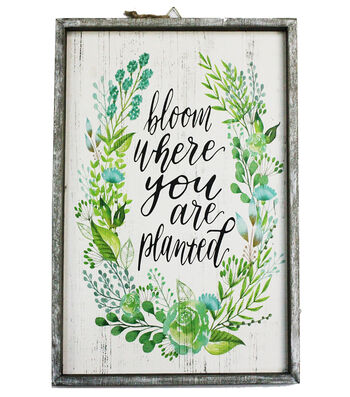 Hello Spring Wall Decor-Fern & Bloom Where You Are Planted