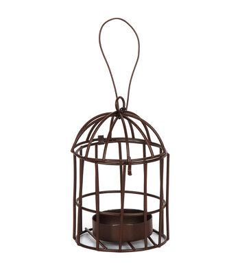 Timeless Miniatures-Metal Birdcage W/Tealight Holder