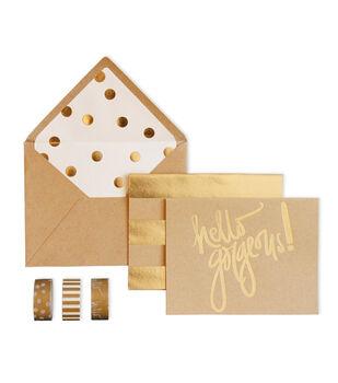 My Minds Eye Paper Goods Kraft Card Box Hello Gorgeous