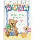 Dimensions Baby Hugs Counted Cross Stitch Kit Birth Record