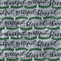 Snuggle Flannel Fabric-Thankful, Grateful, Blessed