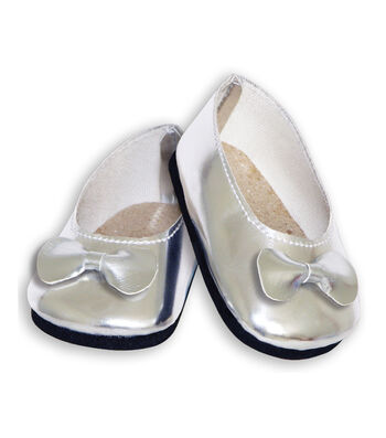 Springfield Boutique Ballet Slippers-Silver