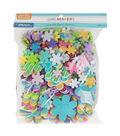 Little Makers Foam Stickers-Flowers