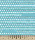 Teal Stars Print Fabric