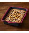 Structure Pro Cake Pan Fuchsia & Gray-Oblong 13\u0022X9\u0022