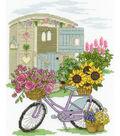 DMC Jane Prutton 8\u0027\u0027x10\u0027\u0027 Counted Cross Stitch Kit-Flowery Bicycle