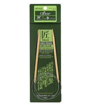 "Takumi Bamboo Circular Knitting Needles 36""-Size 9/5.5mm"