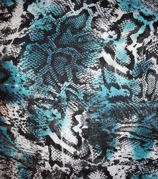 Fast Fashion Yoryu Chiffon Fabric-Teal Snake