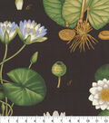 Home Decor 8\u0022x8\u0022 Fabric Swatch-Genevieve Gorder Lotus Love Onyx