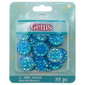 Round Faceted Gems 20mm-Turquoise Crystal