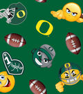 University of Oregon Ducks Fleece Fabric 60\u0022-Emoji