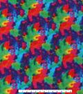 Anti-Pill Fleece Fabric -Multicolored Tie Dye
