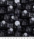 Halloween Cotton Fabric 43\u0022-Midnight Mansions Glow