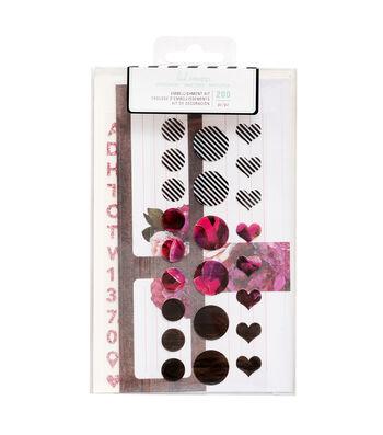 Heidi Swapp Stationery A2 Embellish Kit-Pink