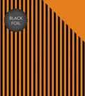 Double-Sided Foiled Dot & Stripe Cardstock 12\u0022X12\u0022-Orange & Black