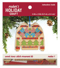 Wood Cross Stitch Ornament Kit-Sweater