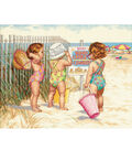 Dimensions 14\u0022x11\u0022 Counted Cross Stitch-Beach Babies
