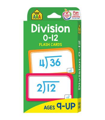 Flash Cards-Division 0-12 52/Pkg