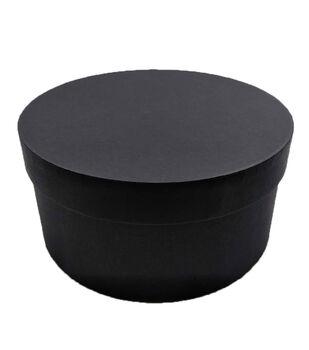 Small Round Photo Storage Box-Black