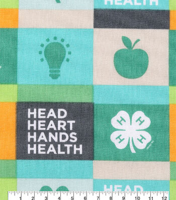 4-H Cotton Fabric-Multi Words