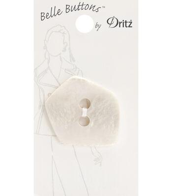 Belle Button-Fashion Cream Pentagon 37Mm