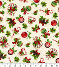 Christmas Cotton Fabric-Peppermints
