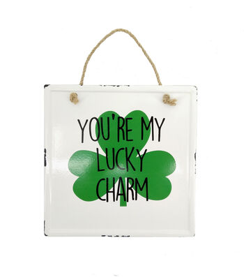 St. Patrick's Day Decor Small Enamel Wall Decor-You're My Lucky Charm