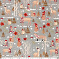 Super Snuggle Flannel Fabric-Wilderness Friends Holiday
