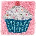 Wonderart Latch Hook Kit 12\u0022X12\u0022-Cupcake