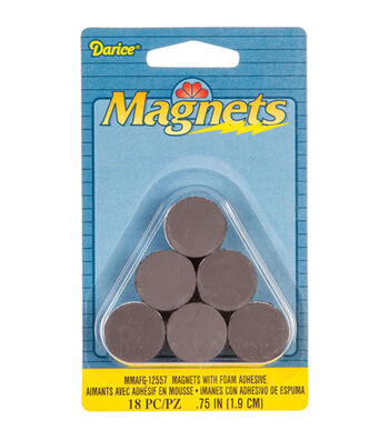"""Round Magnets with Foam Adhesive -.75"""" 18/Pkg"""