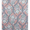 No Sew Fleece Throw-Coral Mint Floral