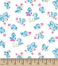 Snuggle Flannel Fabric 42\u0027\u0027-Blue Birds