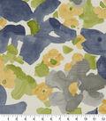Robert Allen @ Home Print Swatch 55\u0022-Evanthey Flora Greystone
