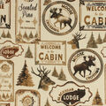 Super Snuggle Flannel Fabric-Moose Crossing Patchwork