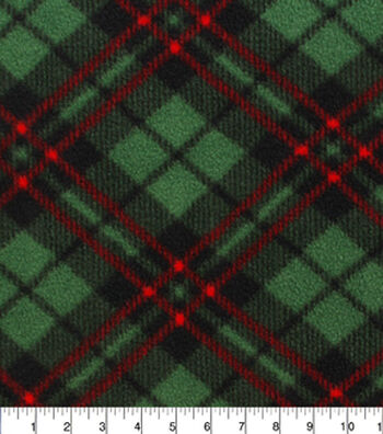 "Anti-Pill Fleece Fabric 59""-Macintosh Plaid"