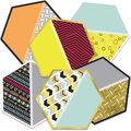 Hexagons Cutout Assorted Gr Pk-5, 36/pk, Set Of 3 Packs