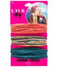 LaurDIY Coral/Multi/Blue Hemp Cord