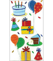 Jolee's Boutique Le Grande Dimensional Stickers-Birthday Celebration, , hi-res