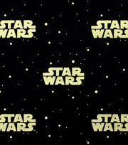 Star Wars Cotton Fabric -Metallic Logo, , hi-res