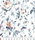 Premium Cotton Fabric-Birds in Floral White