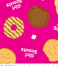 Girl Scout Fleece Fabric -Cookies