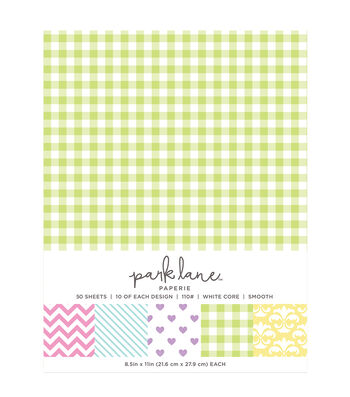 Park Lane 50 pk 8.5''x11'' Value Papers-Printed Pastel