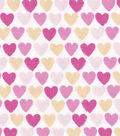 Snuggle Flannel Fabric -Pink Ylw Hearts