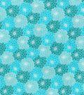 Keepsake Calico Cotton Fabric 43\u0027\u0027-Teal Tonal Packed Floral