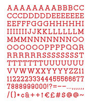 DCWV Home 188 Pack 1'' Letters-Red, , hi-res