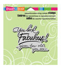 Fabulous -cling Rubber Stamp