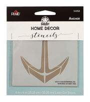 FolkArt Home Decor 4''x4'' Laser Cut Stencil-Anchor, , hi-res